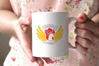 Sigma Iota Alpha White Mascot Coffee Mug - Personalized!