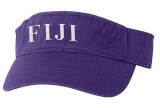 FIJI Fraternity Letter Visor