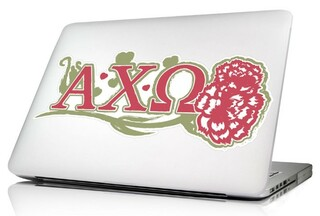 Alpha Chi Omega 10 x 8 Laptop Skin/Wall Decal
