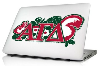 Alpha Gamma Delta 10 x 8 Laptop Skin/Wall Decal