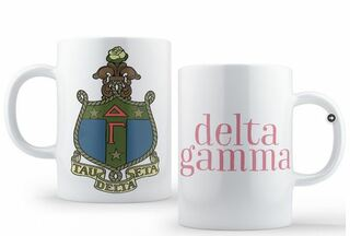 Delta Gamma Crest - Shield Coffee Mug