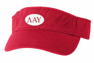 Lambda Alpha Upsilon Greek Oval Heavy Visor