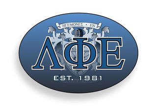 Lambda Phi Epsilon Color Oval Decal