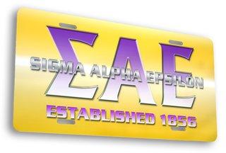 Sigma Alpha Epsilon License Cover