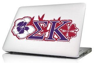 Sigma Kappa 10 x 8 Laptop Skin/Wall Decal