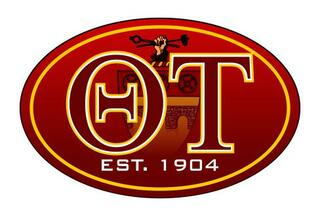 Theta Tau Color Oval Decal