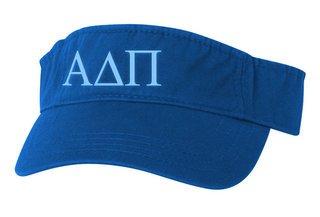 Alpha Delta Pi Greek Letter Visor