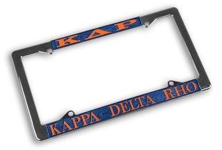 Kappa Delta Rho Chrome License Plate Frames