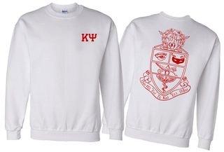 Kappa Psi World Famous Crest - Shield Printed Crewneck Sweatshirt- $25!