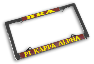 Pi Kappa Alpha Chrome License Plate Frames