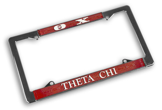 Theta Chi Chrome License Plate Frames