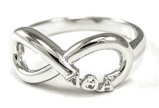 Lambda Theta Alpha Sterling Silver Infinity Ring