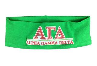 Alpha Gamma Delta Cotton Stretch Headband