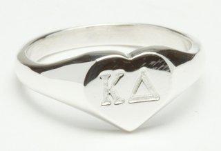 Sorority Silver Heart Ring