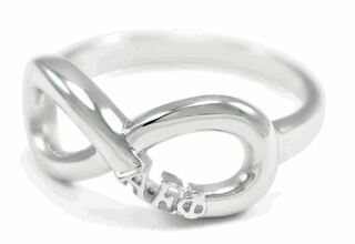 Alpha Epsilon Phi Sterling Silver Infinity RIng