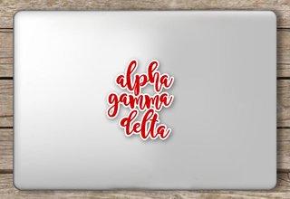 Alpha Gamma Delta Script Sticker