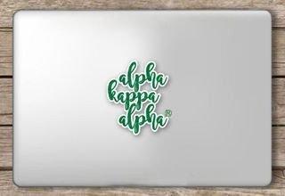 Alpha Kappa Alpha Script Sticker