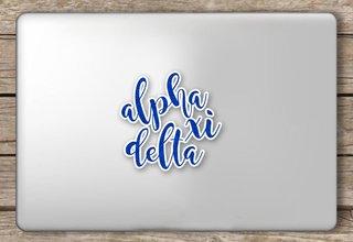 Alpha Xi Delta Script Sticker