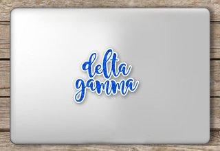 Delta Gamma Script Sticker