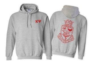 Kappa Psi World Famous Crest - Shield Printed Hooded Sweatshirt- $35!