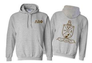 Lambda Theta Phi World Famous Crest - Shield Printed Hooded Sweatshirt- $35!