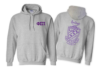 Phi Sigma Pi World Famous Crest - Shield Hooded Sweatshirt- $35!