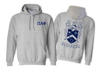 Pi Alpha Phi World Famous Crest - Shield Printed Hooded Sweatshirt- $35!