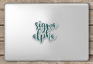 Sigma Alpha Script Sticker