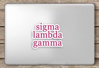 Sigma Lambda Gamma Script Sticker
