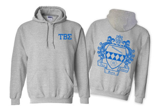 Tau Beta Sigma World Famous Crest - Shield Printed Hooded Sweatshirt- $35!