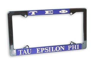 Tau Epsilon Phi Chrome License Plate Frames