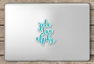Zeta Tau Alpha Script Sticker