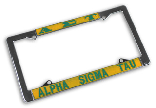 Alpha Sigma Tau License Plate Frame