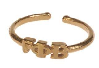 Gamma Phi Beta Adjustable Letter Ring