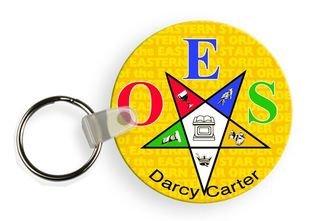 Order Of Eastern Star Mascot Keychain