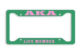 Alpha Kappa Alpha Life Member Metal License Plate Frame