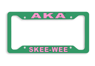 Alpha Kappa Alpha Skee Wee Metal License Plate Frame