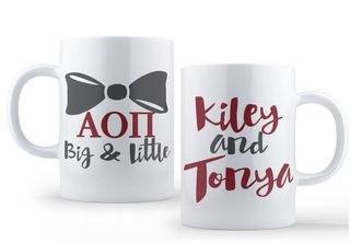 Alpha Omicron Pi Big & Little Coffee Mug