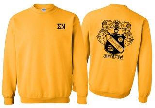 Sigma Nu World Famous Crest - Shield Printed Crewneck Sweatshirt- $25!
