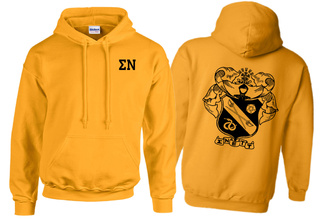 Sigma Nu World Famous Crest - Shield Hooded Sweatshirt- $35!