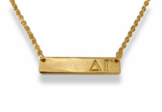 Delta Gamma Cross Bar Necklace