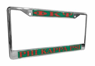 Phi Kappa Psi Chrome License Plate Frames