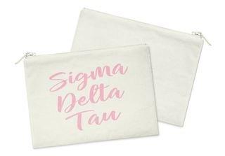 Sigma Delta Tau Script Cosmetic Bag