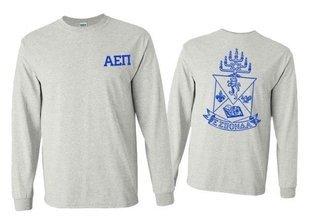 Alpha Epsilon Pi World Famous Crest - Shield Long Sleeve T-Shirt- $19.95!