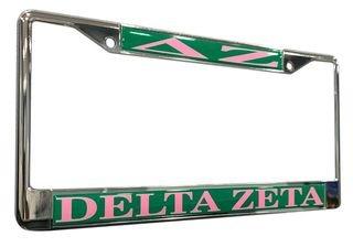 Delta Zeta Chrome License Plate Frames
