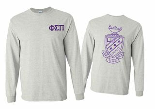 Phi Sigma Pi World Famous Crest - Shield Long Sleeve T-Shirt- $19.95!