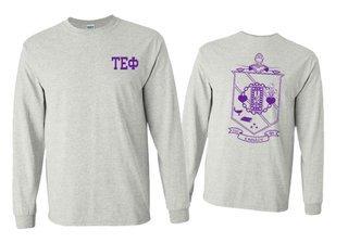 Tau Epsilon Phi World Famous Crest - Shield Long Sleeve T-Shirt- $19.95!