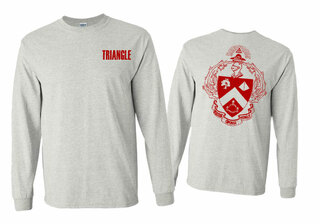 Triangle World Famous Crest - Shield Long Sleeve T-Shirt- $19.95!