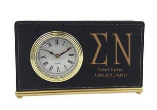Elegant Horizontal Fraternity Desk Clock