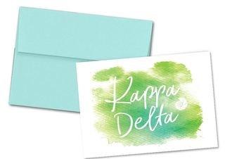 Kappa Delta Watercolor Script Notecards(6)